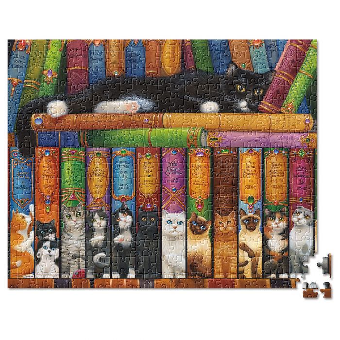 Cats & Books Puzzle