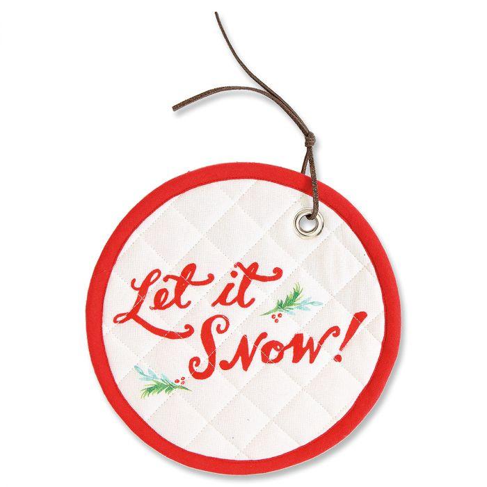 Let It Snow Round Hot Pad