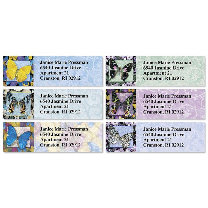 Brilliant Butterflies Classic Address Labels  (6 Designs)