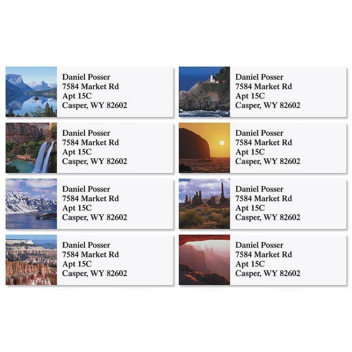 Magnificent Vistas Classic Address Labels  (8 Designs)