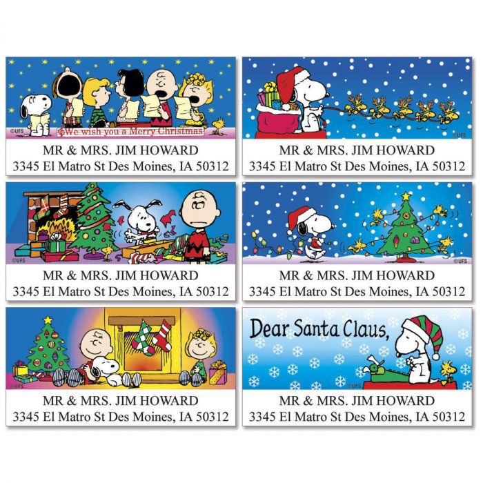 PEANUTS® Christmas Fun Deluxe Label  (6 designs)