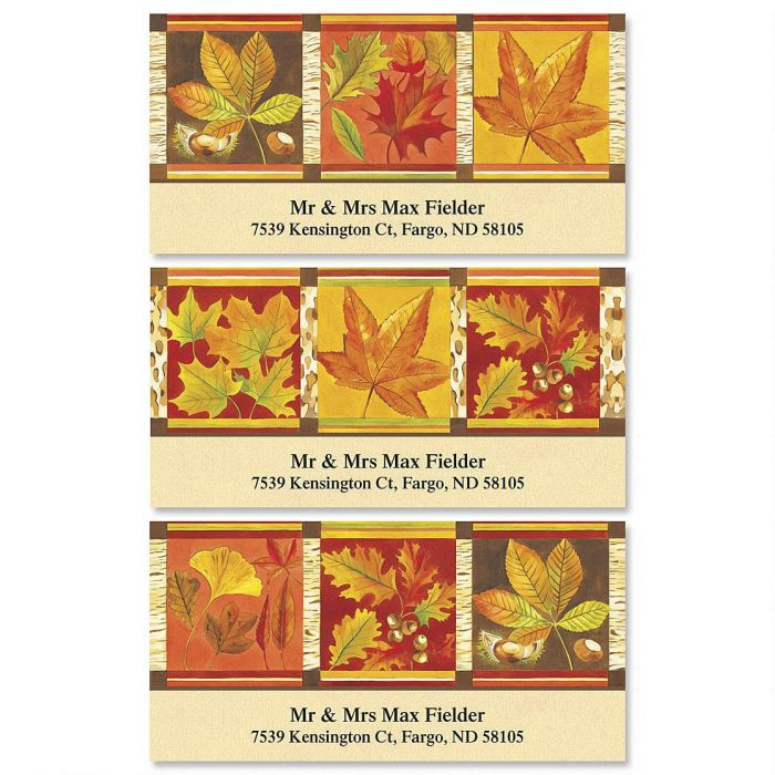 Fall Leaves Deluxe Address Labels  (3 designs)