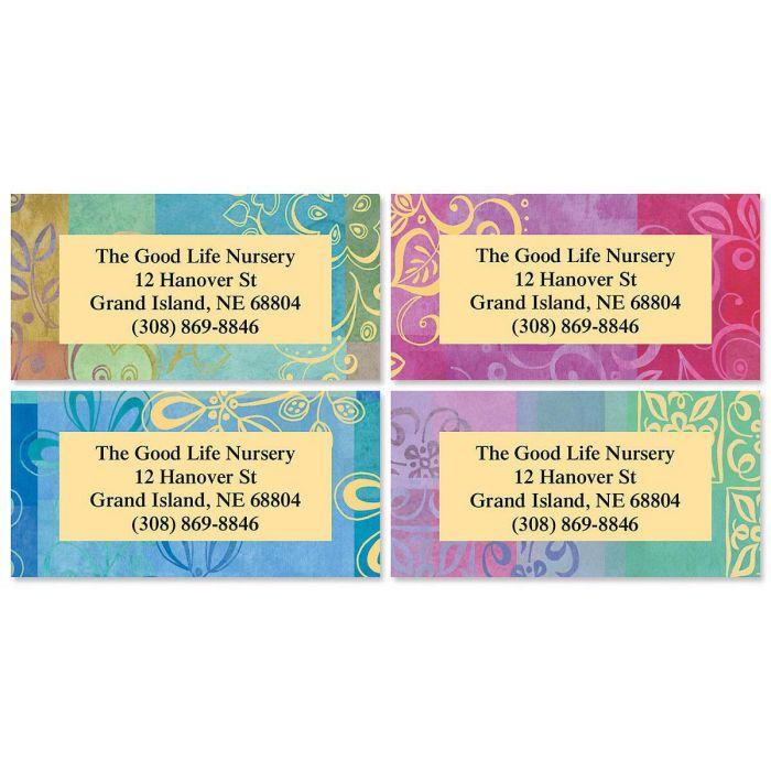 Ornamental Border Address Labels  (4 Designs)