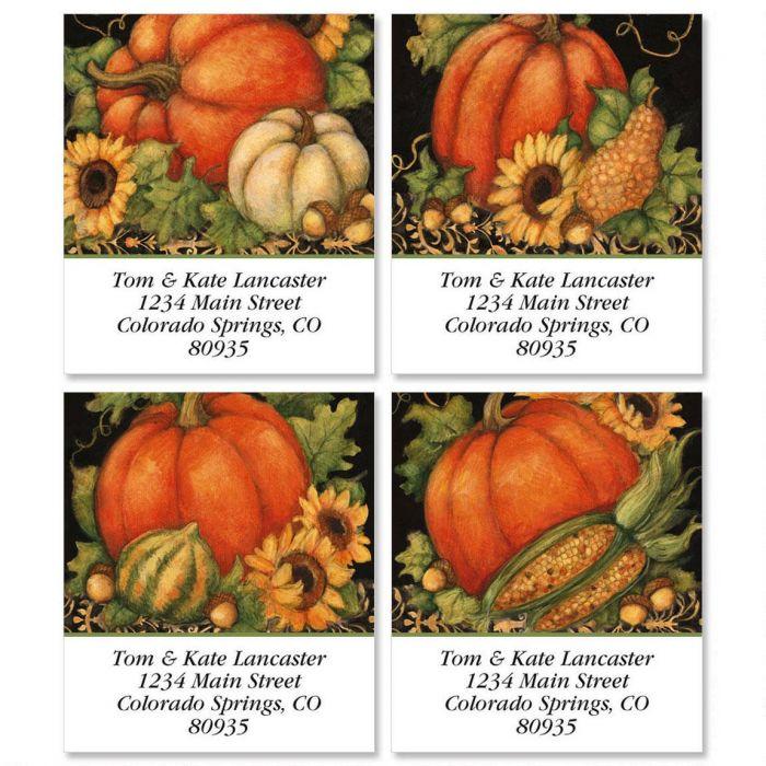 Pumpkin Harvest Select Address Labels  (4 designs)