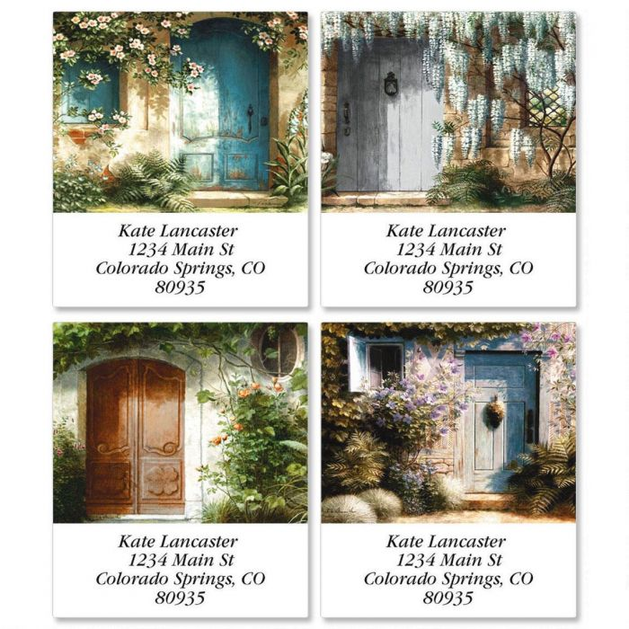 Shaded Entry Select Address Labels  (4 designs)