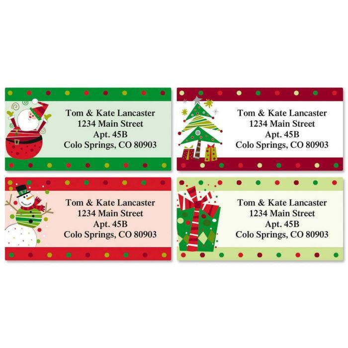 Fun Christmas Border Labels  (4 designs)
