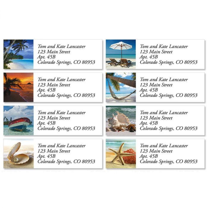 Tropical Harmony Classic Address Labels  (8 designs)