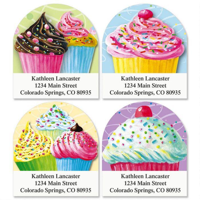 Cupcake Diecut Address Labels  (4 designs)