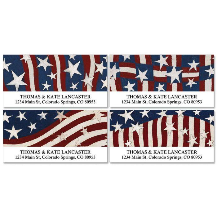 Patriotic Banner Deluxe Address Labels  (4 designs)