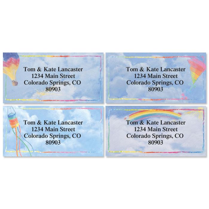 Bright Skies Address Labels  (4 designs)