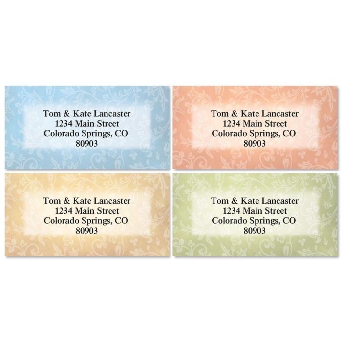 Fresco Border Address Labels  (4 designs)