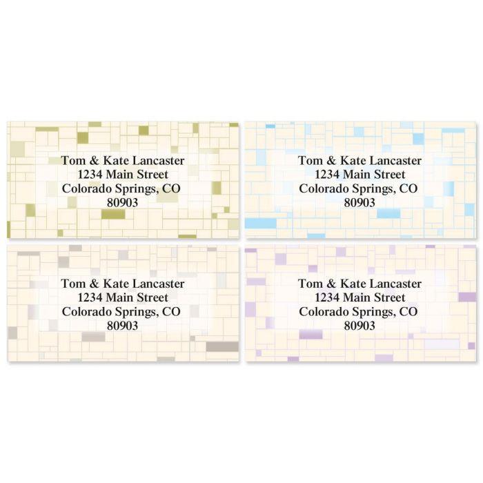 Gridlock Border Address Labels  (4 designs)