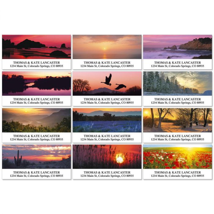 Sunrise In America Deluxe Address Labels  (12 designs)
