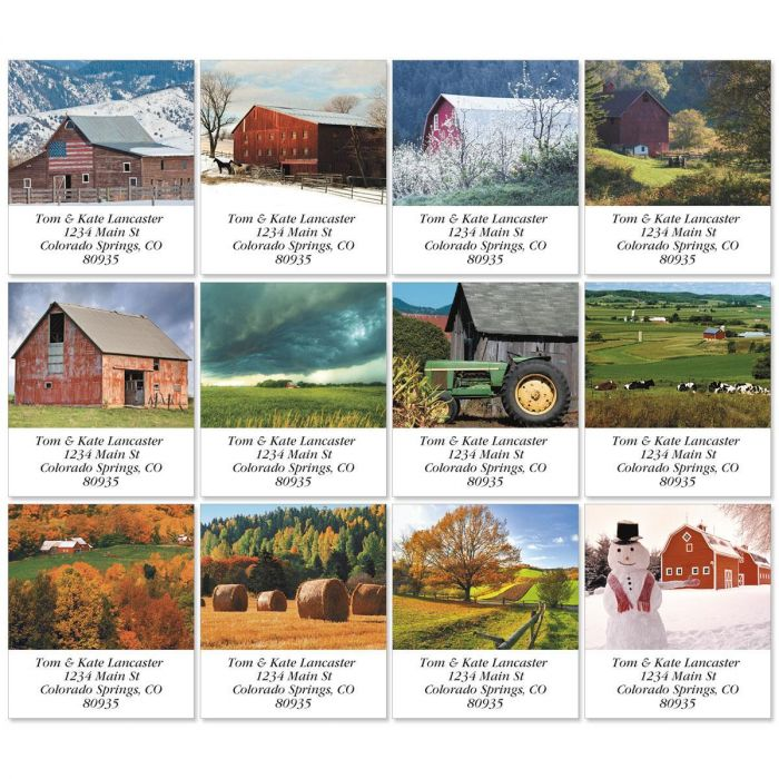 Farmscapes Select Address Labels  (12 designs)