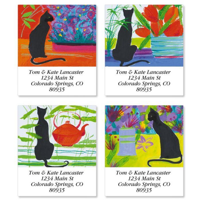 Cat Bright Select Address Labels  (4 Designs)