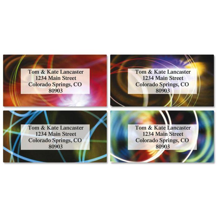 Wow and Flutter Border Address Labels  (4 Designs)