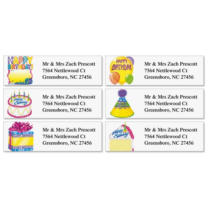 Birthday Classic Address Labels  (6 designs)