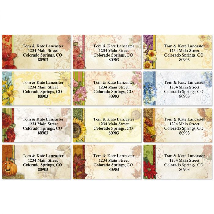 Every Season Border Address Labels  (12 Designs)