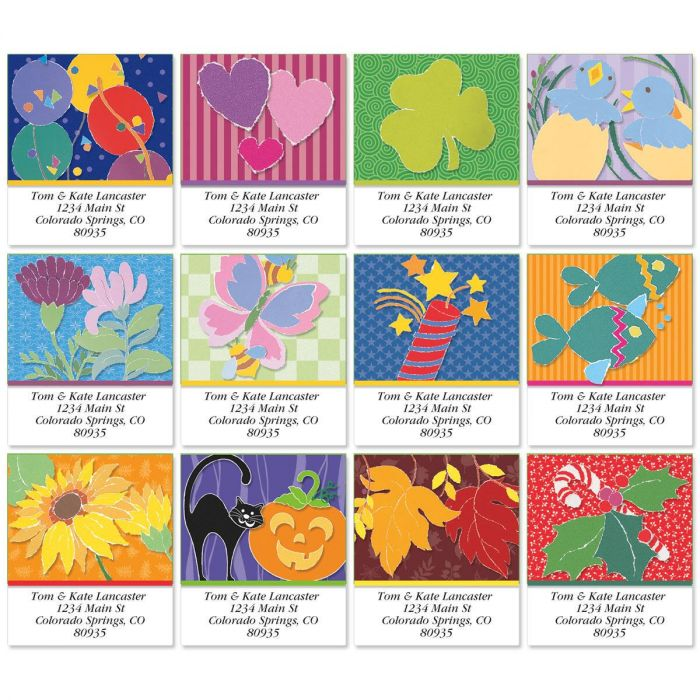 Enjoy Year Round Select Address Labels  (12 designs)