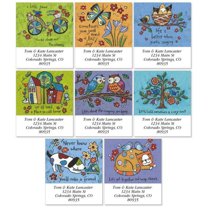 Folksy Charm Select Address Labels  (8 designs)