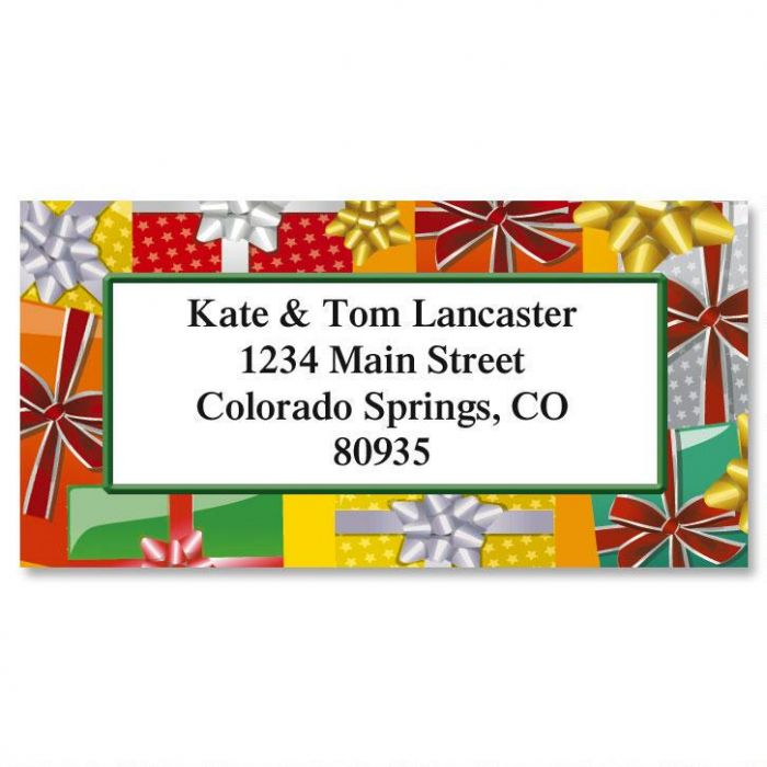 Holiday Bright Border Address Labels  (6 Designs)