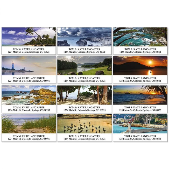 Seascapes Deluxe Address Labels  (12 designs)