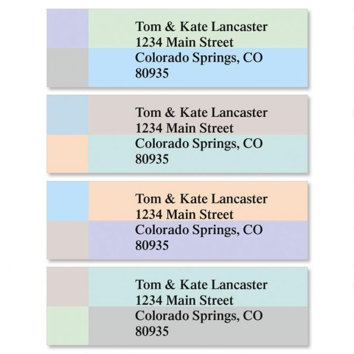Color Block Classic Address Labels  (4 designs)