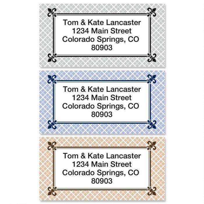 Plain & Simple Border Address Labels  (3 designs)