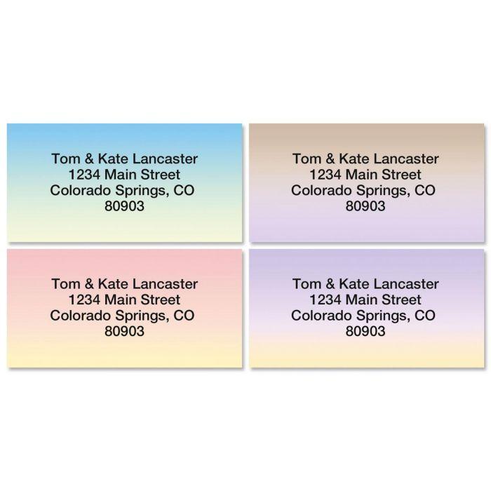 Ombre Border Address Labels  (4 Designs)
