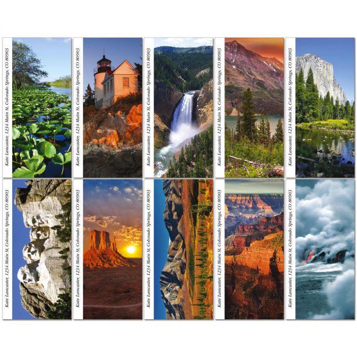 America's National Parks Oversized Address Labels  (10 Designs)
