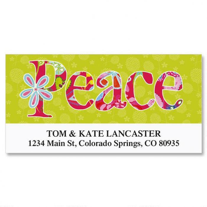 Joyful Florals Deluxe Address Labels  (6 designs)
