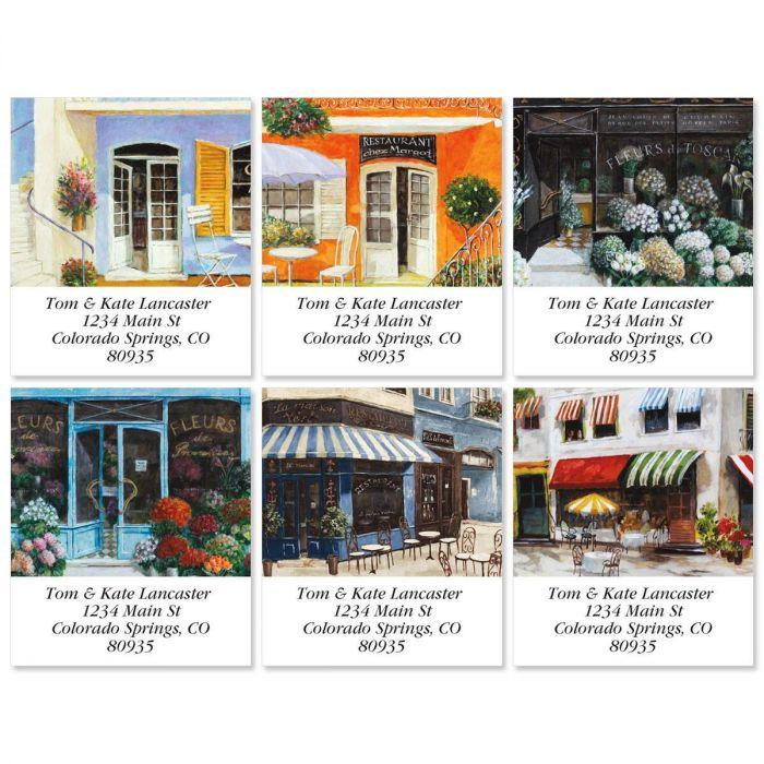 Sidewalk Cafe Select Address Labels  (6 designs)
