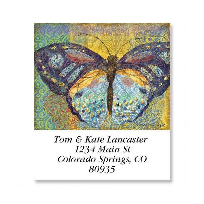 Elaborate Butterflies Select Address Labels  (6 designs)