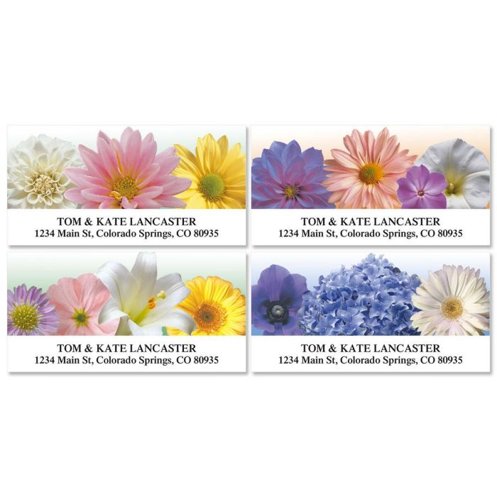 Floral Naturals Deluxe Address Labels  (4 Designs)
