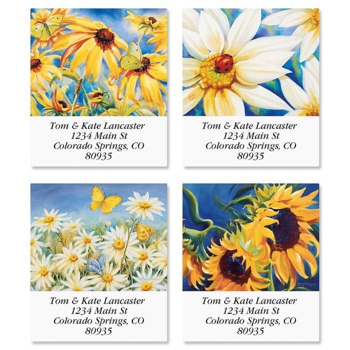 Yellow Wildflower Select Address Labels  (4 Designs)