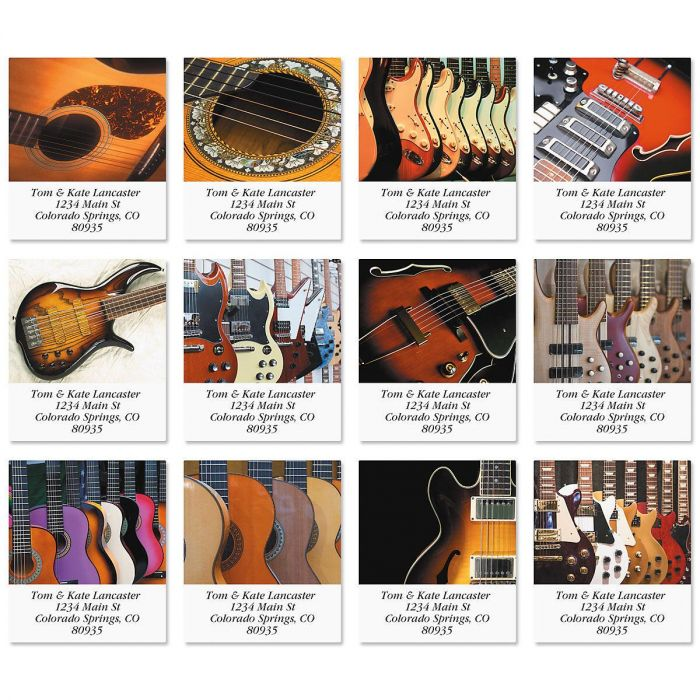 Guitars Select Address Labels  (12 Designs)