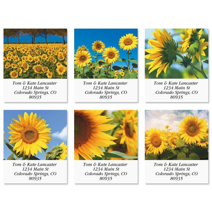 Sunny Sunflowers Select Address Labels  (6 Designs)