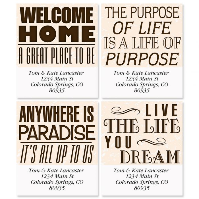 Signs Select Address Labels  (4 Designs)