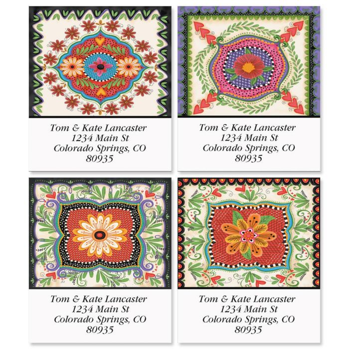 Spanish Flair Select Address Labels  (4 Designs)