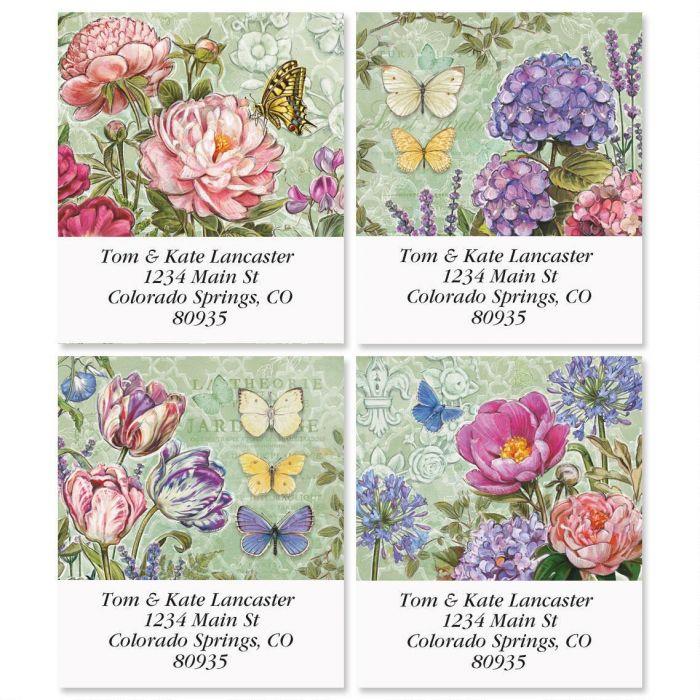 Secret Garden Select Address Labels  (4 Designs)