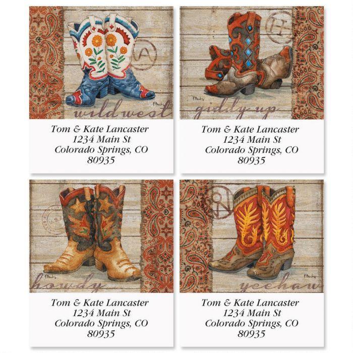 Wild West Select Address Labels  (4 Designs)