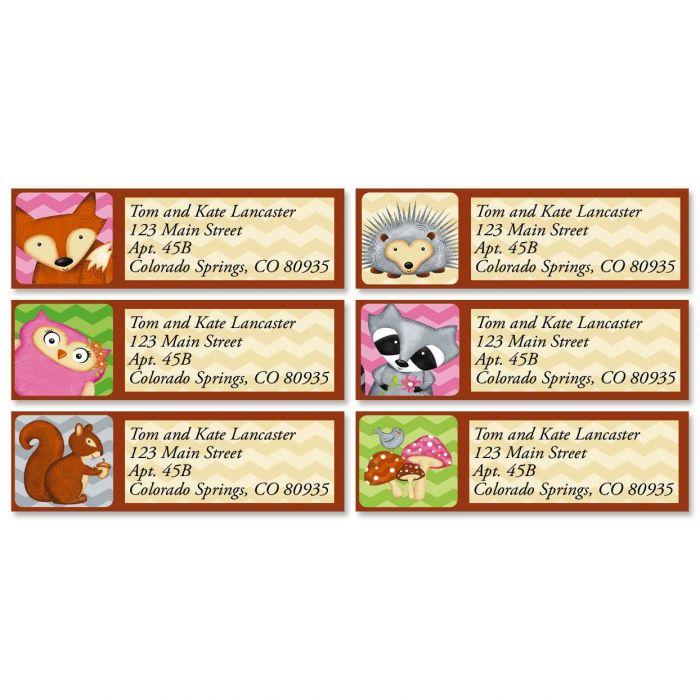 Forest Friends Classic Address Labels  (6 Designs)