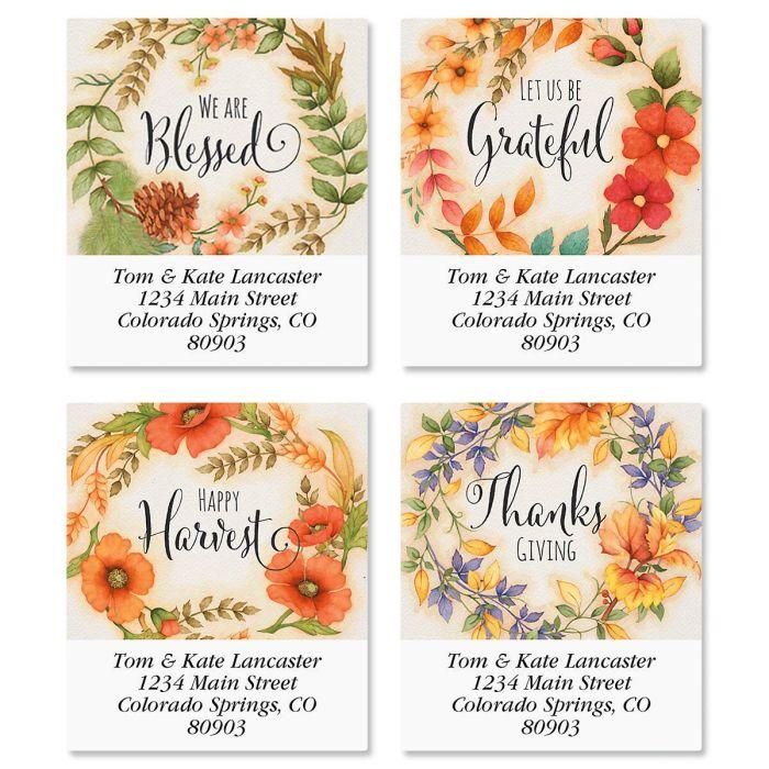 Autumn Wreaths Select Address Labels  (4 Designs)