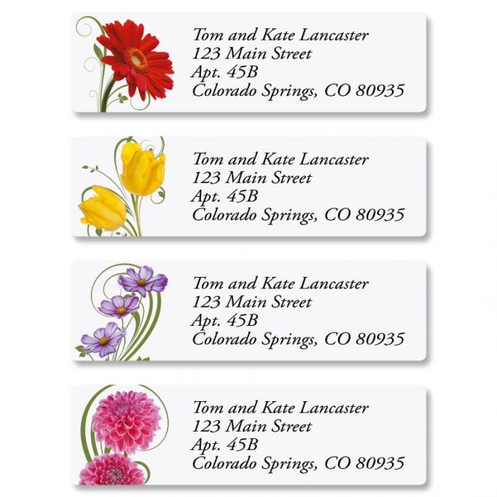Floral Whispers Classic Address Labels  (4 Designs)