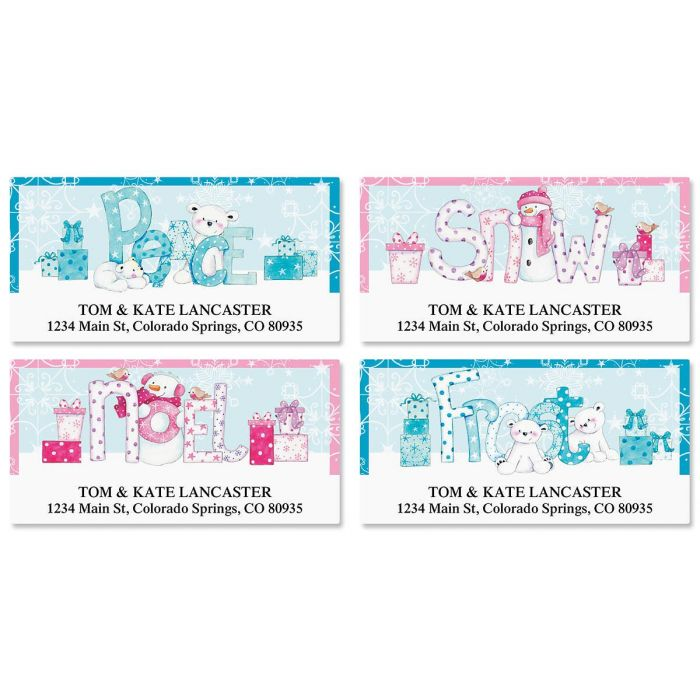 Merry Messages Deluxe Address Labels  (4 Designs)
