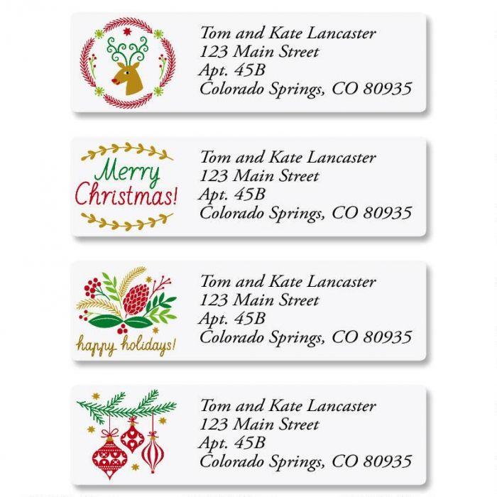 Salutations Classic Address Labels  (4 Designs)