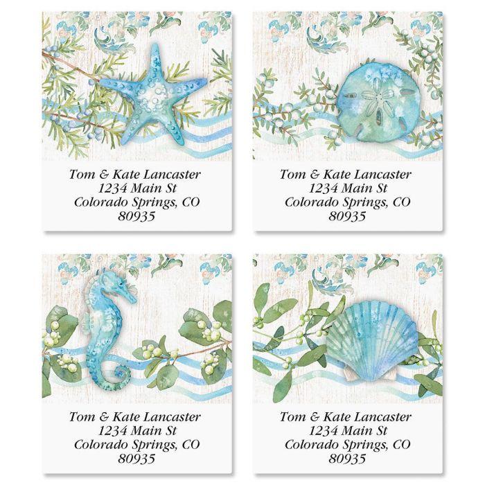 Ocean Tide Select Address Labels  (4 Designs)