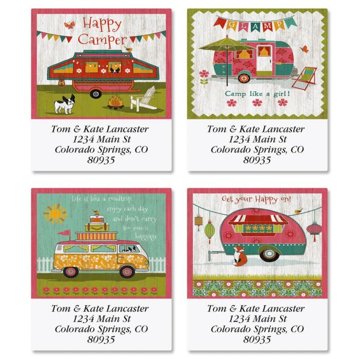 Glamping Select Address Labels  (4 Designs)