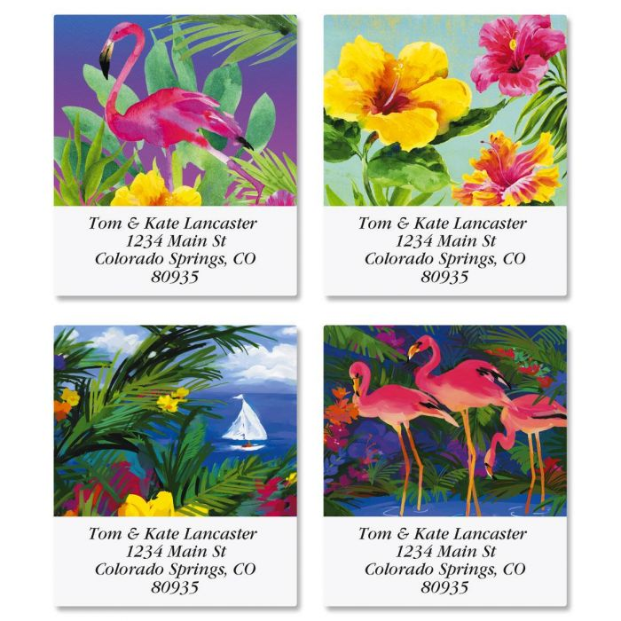Vivid Tropics Select Address Labels  (4 Designs)