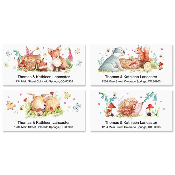 Woodland Animals Deluxe Address Labels  (4 Designs)
